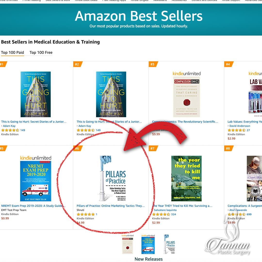 Pillars of Practice Amazon Best Seller - Tannan Plastic Surgery